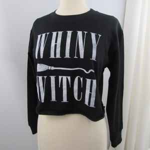 NWT FREEZE Black Crop Top WHINY WITCH